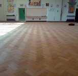 Parquet flooring after completion